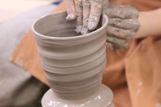 ビールジョッキ オリジナル 大きめ 陶器 益子焼き 陶芸体験