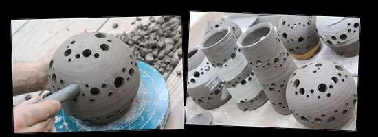 益子焼き ランプシェード ランプ オリジナル 陶器 陶芸